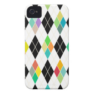 Colorful geometric pattern iPhone 4 cases