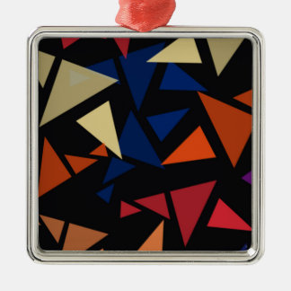 Colorful geometric pattern metal ornament