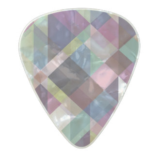 Colorful Geometric Pattern Pearl Celluloid Guitar Pick