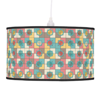 Colorful geometric pattern pendant lamp