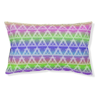 Colorful Geometric Pattern Pet Bed