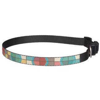 Colorful geometric pattern pet collar