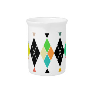 Colorful geometric pattern pitcher