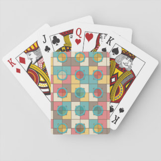 Colorful geometric pattern playing cards