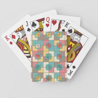 Colorful geometric pattern poker deck