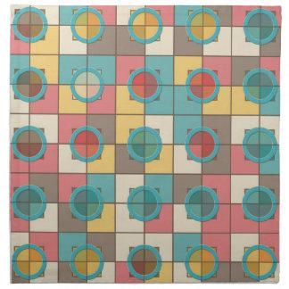 Colorful geometric pattern printed napkins