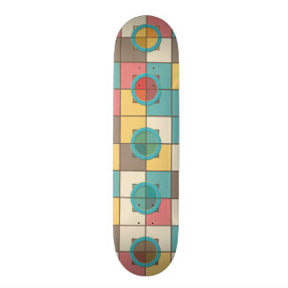 Colorful geometric pattern skate board decks