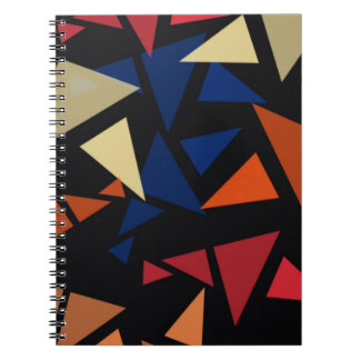 Colorful geometric pattern spiral notebook