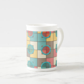 Colorful geometric pattern tea cup