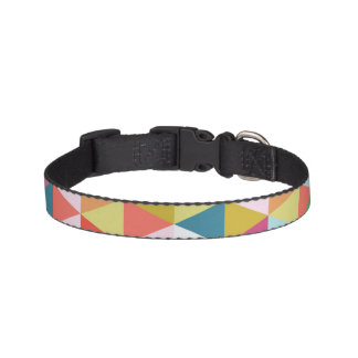 Colorful Geometric Patterned Dog Collar