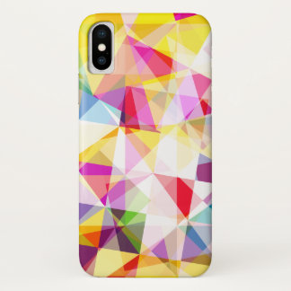 Colorful Geometric Patterned iPhone X Case