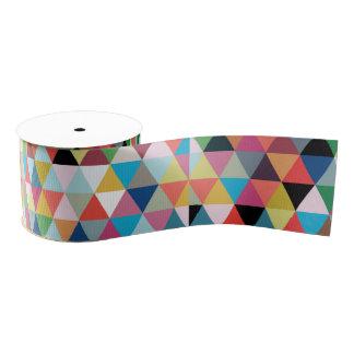 Colorful Geometric Patterned Ribbon Grosgrain Ribbon