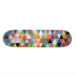 Colorful Geometric Patterned Skateboard
