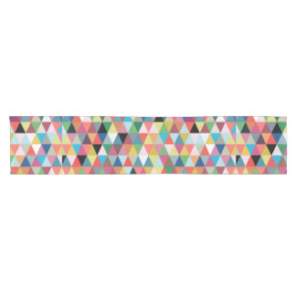 Colorful Geometric Patterned Table Runner