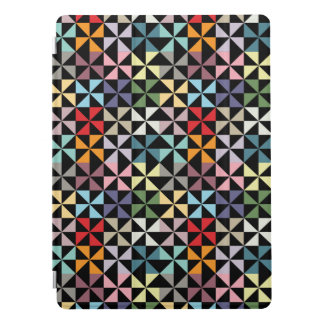 Colorful Geometric Pinwheel Black iPad Pro Cover