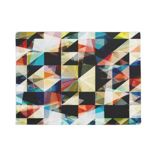 Colorful Geometric Reflections Doormat