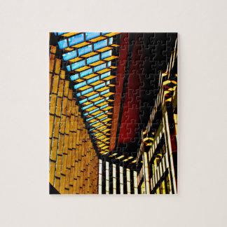 Colorful Geometric Shapes Jigsaw Puzzle