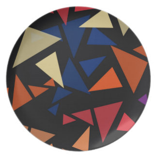 Colorful geometric Shapes Plate
