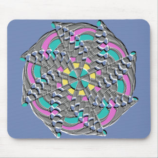 Colorful Geometric Swirl - Mouse Pad