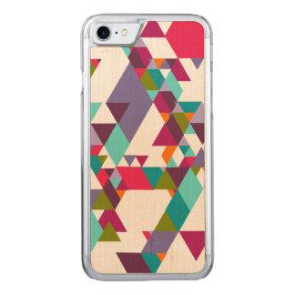 Colorful Geometric Triangle Pattern Carved iPhone 7 Case