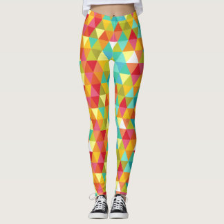 Colorful Geometric Triangle Pattern Leggings