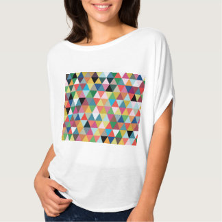 Colorful Geometric Triangle Patterned T-Shirt