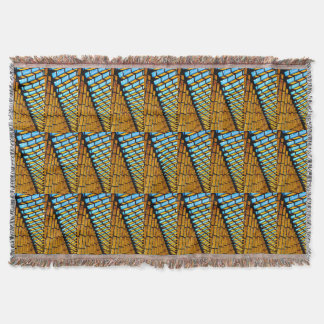 Colorful Geometric Triangles and Shapes Afghan Throw