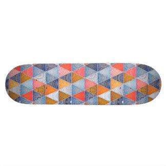 Colorful geometric triangles mandalas pattern custom skate board