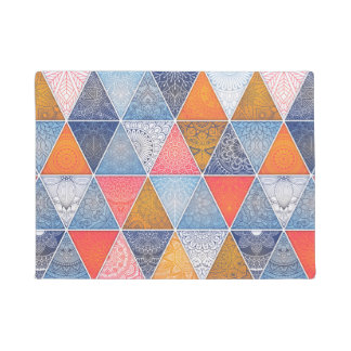 Colorful geometric triangles mandalas pattern doormat