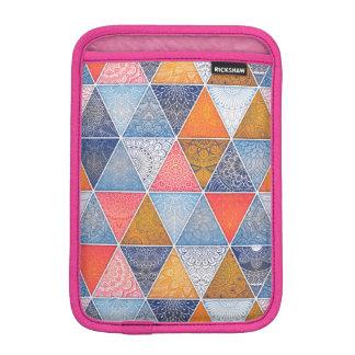 Colorful geometric triangles mandalas pattern sleeve for iPad mini