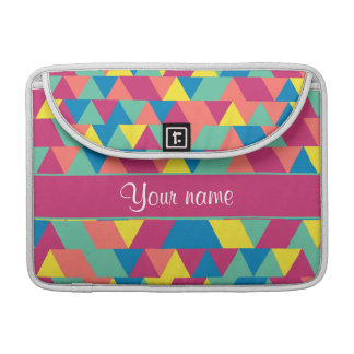 Colorful Geometric Triangles Sleeves For MacBook Pro