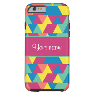 Colorful Geometric Triangles Tough iPhone 6 Case