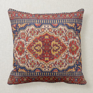 Colorful Geometric Tribal Rug Design Throw Pillow
