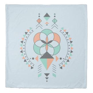 Colorful geometric tribal toem duvet cover