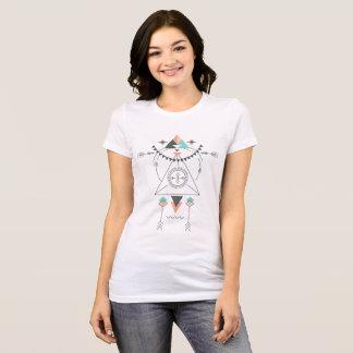 Colorful Geometric Tribal Totem Design T-Shirt