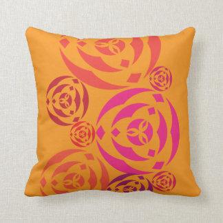 Colorful Geometric two-tone swirl design Throw Pillows