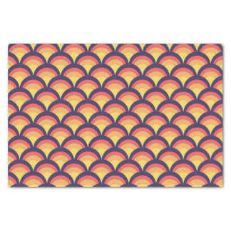 Colorful Geometric Waves Pattern Tissue Paper