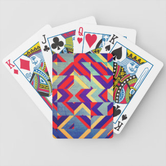 Colorful geometrical bicycle playing cards