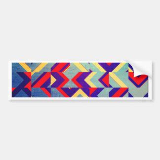 Colorful geometrical bumper sticker