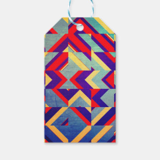 Colorful geometrical gift tags