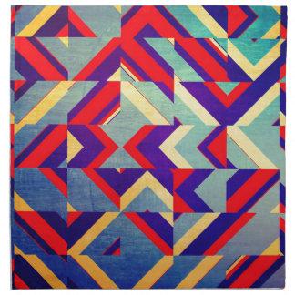 Colorful geometrical napkin