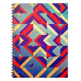 Colorful geometrical notebooks