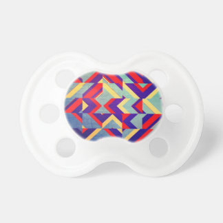 Colorful geometrical pacifier