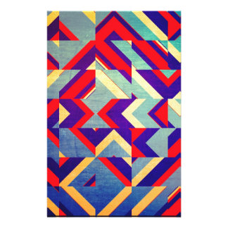 Colorful geometrical stationery