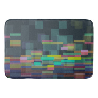 colorful GEOs Bath Mat