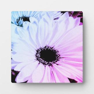 Colorful Gerber Daisy Easel Art Print Plaque