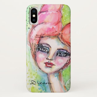 Colorful Girl Watercolor Fairy Artistic Portrait Case-Mate iPhone Case