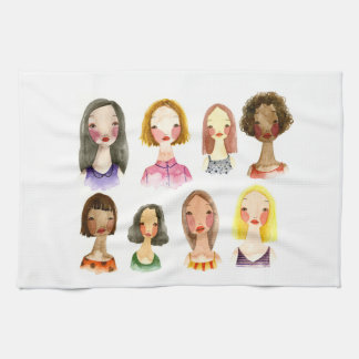 Colorful Girls Kitchen Towel