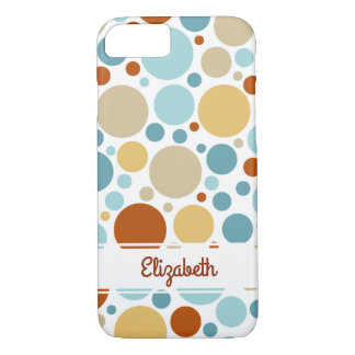 Colorful Girly Abstract Circles iPhone 7 case