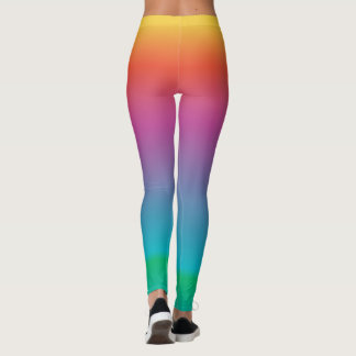 Colorful Girly Cute Rainbow Ombre Multicolored Leggings